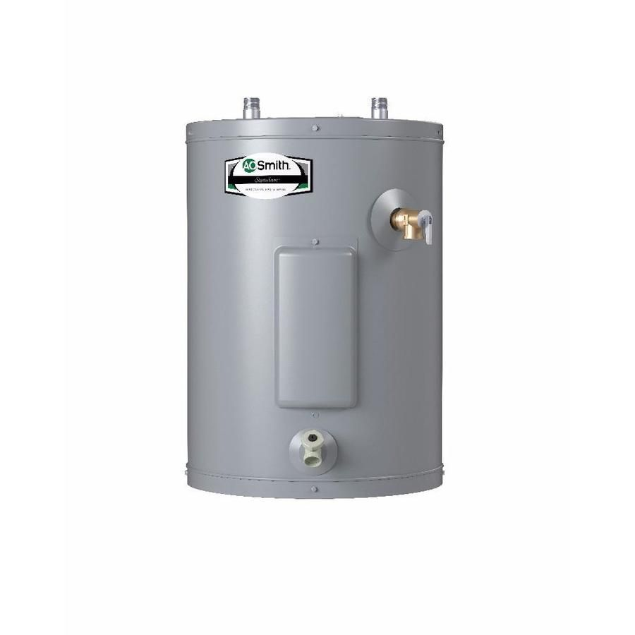 A O Smith Signature 6 Gallon Regular 6 Year Limited 1500 Watt 1 Element Point Of Use Electric Water Heater Electric Water Heater Water Heater Heater