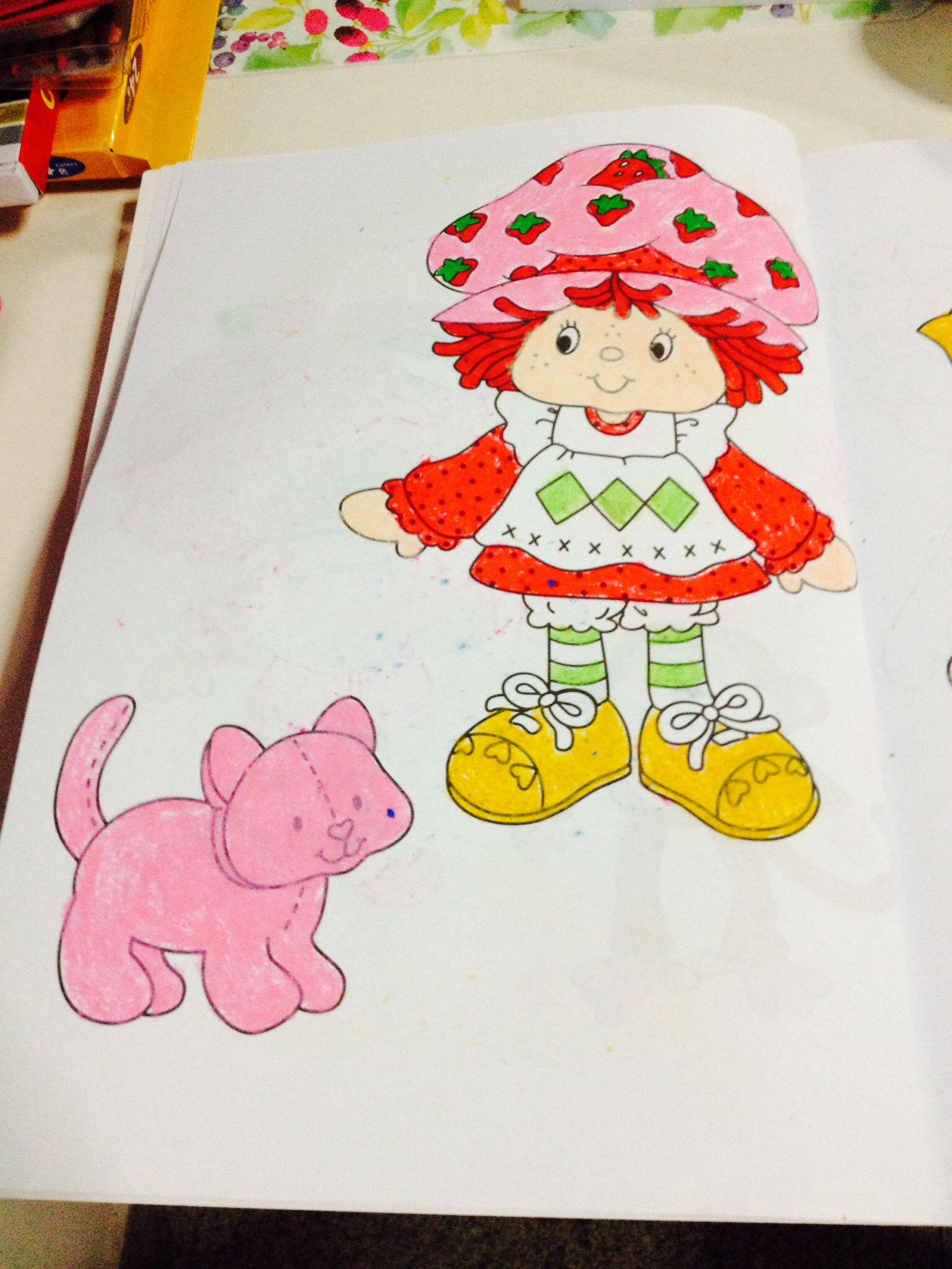 Encantador Páginas De Libro Para Colorear De Pastel De Fresa ...