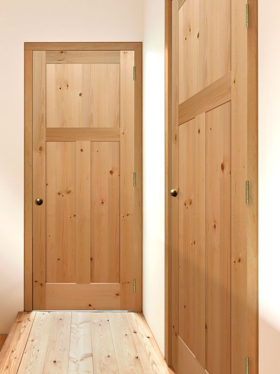 Superior Knotty Pine 3 Panel Mission Flat Doors By Mastercraft® Amazing Design