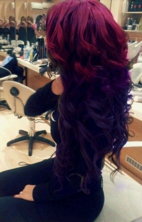 Purple And Red Hair Color Mix Hair Styles Long Hair Styles Thick Hair Styles