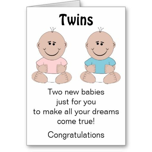 New Born Baby Twins Card Zazzle Com Twin Babies Baby Shower