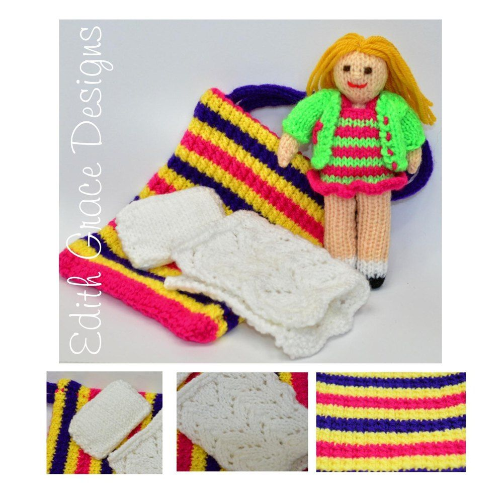 Bella in a Bag Doll - A Knitted Rag Doll - Beginners Knitting ...