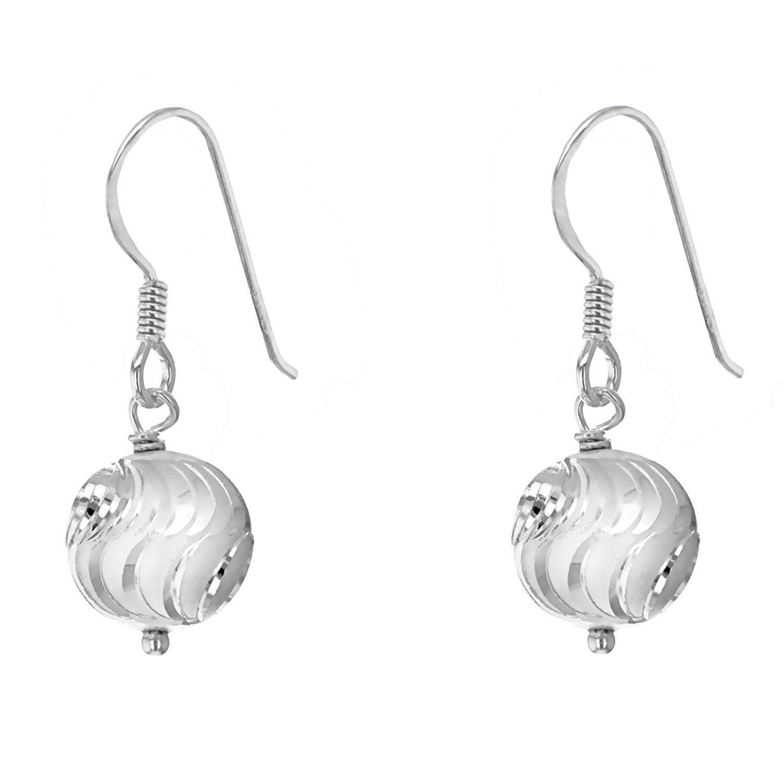 Tuscany Silver Sterling Silver Double Teardrop and Ball Drop Earrings Vsl5eRogiX