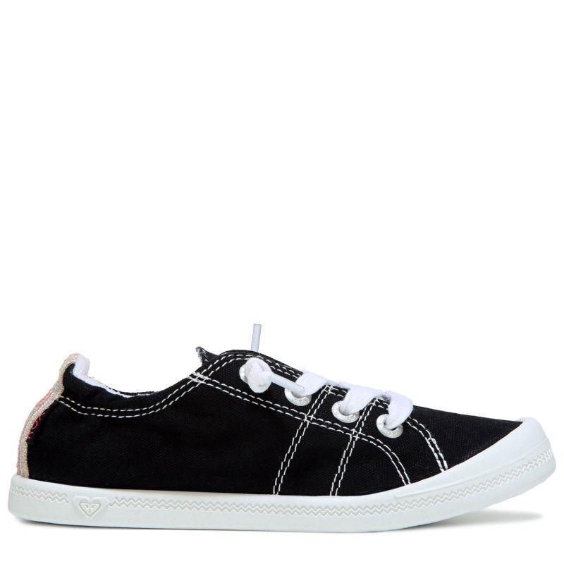 Roxy Kids' Bayshore Memory Foam Slip On Sneaker Pre/Grade School Shoes ( Black