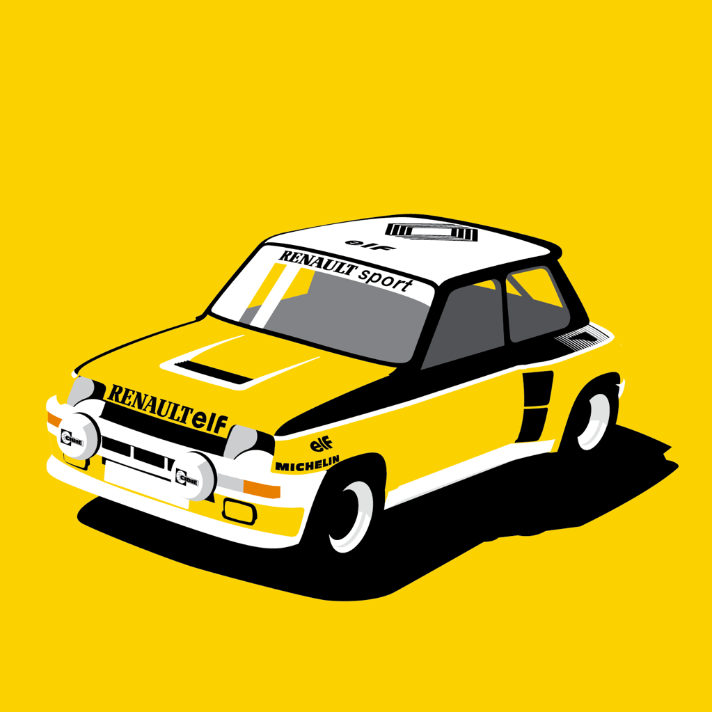 renault 5 turbo rally car racing livery we collect and