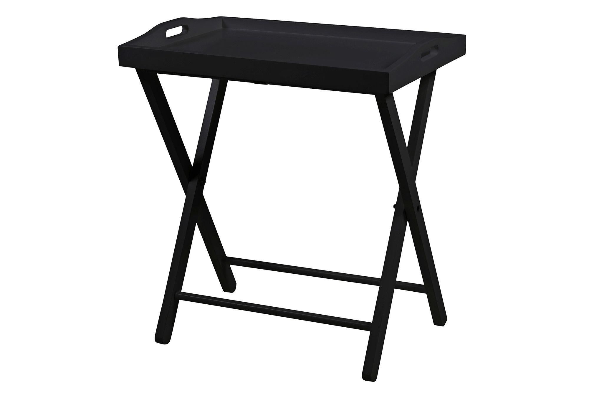 beistelltisch schwarz lackiert woody 169-00270 kiefer modern jetzt, Wohnzimmer dekoo
