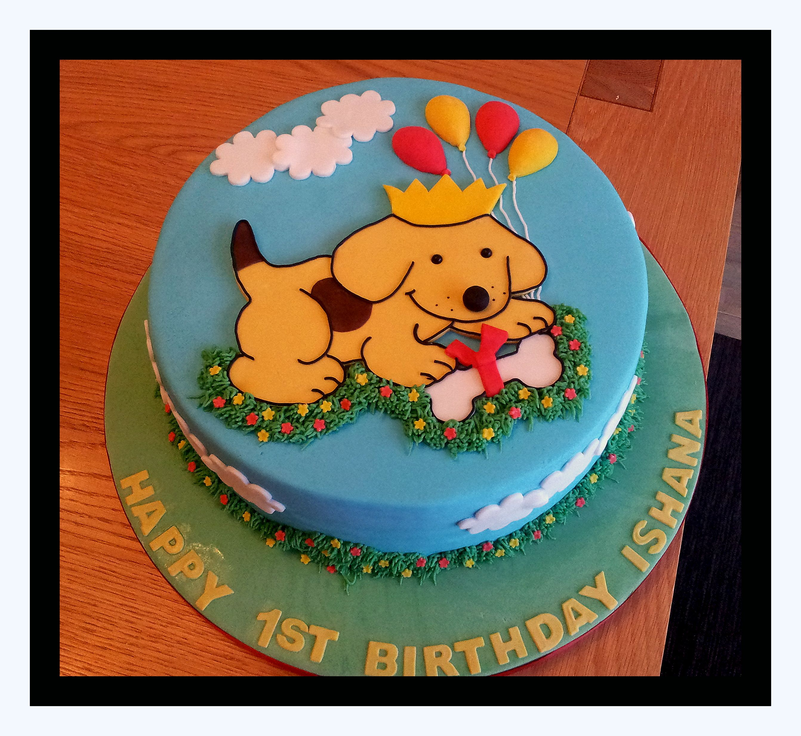 Fabulous Spot The Dog Cake With Images Baby First Birthday Cake First Personalised Birthday Cards Veneteletsinfo