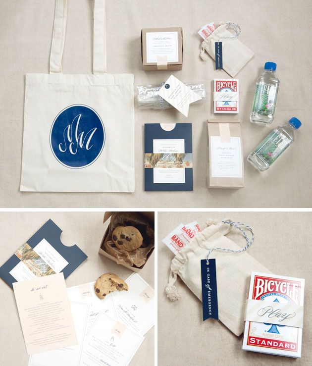 welcome bag ideas by lilly & louise photo: beaux arts styling ...