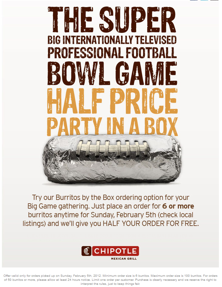 Local Purchase Order Form Buy 3 Get 3 Free On Burritos Sunday At Chipotle  Products I Love .