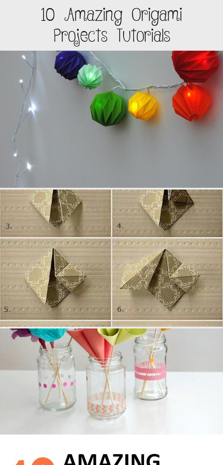 Photo of 10 Amazing Origami Projects Tutorials – #origamiMobile #origamiSwan #origamiLamp…