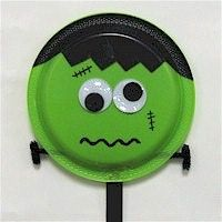 How cute is this little Frankenstein paper plate? Kids will have so much fun making this they will totally forget he\u0027s a monster! A great kid\u0027s project for ... & How cute is this little Frankenstein paper plate? Kids will have so ...
