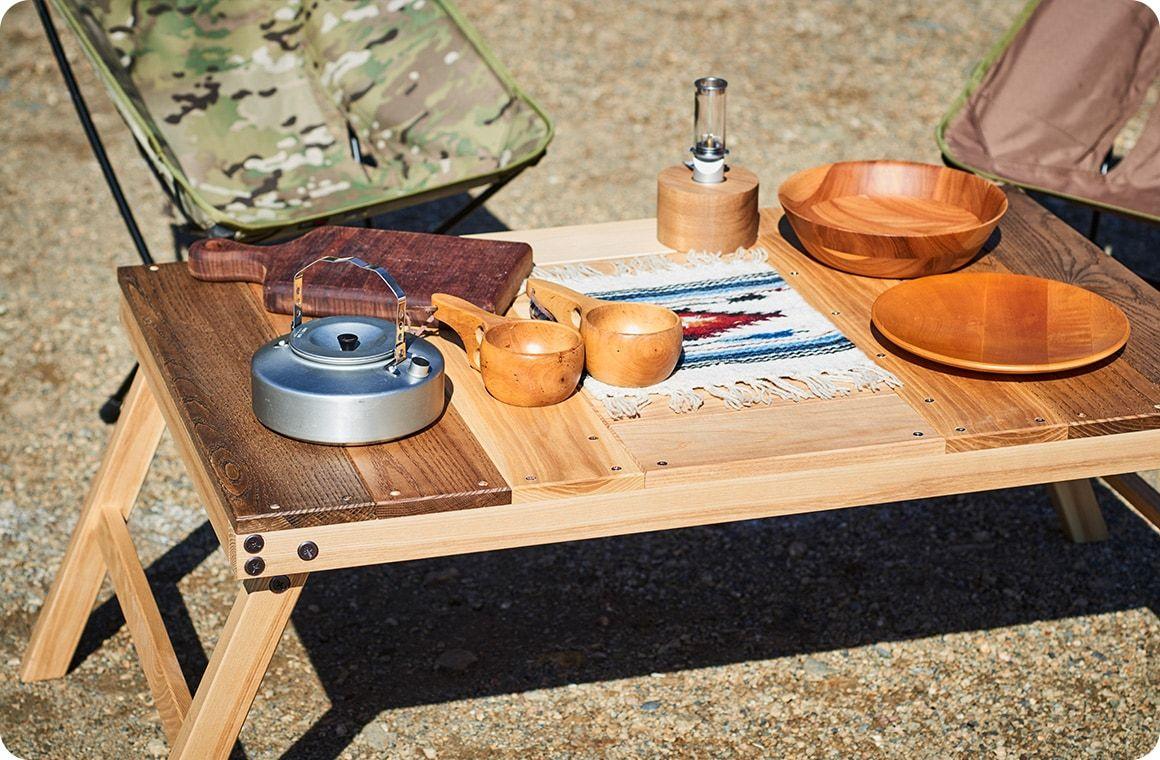 キャンプギアをdiy 変幻自在に使える木製キッチンテーブル Hondaキャンプ アウトドア チェア Diy アウトドア テーブル テーブル Diy 作り方
