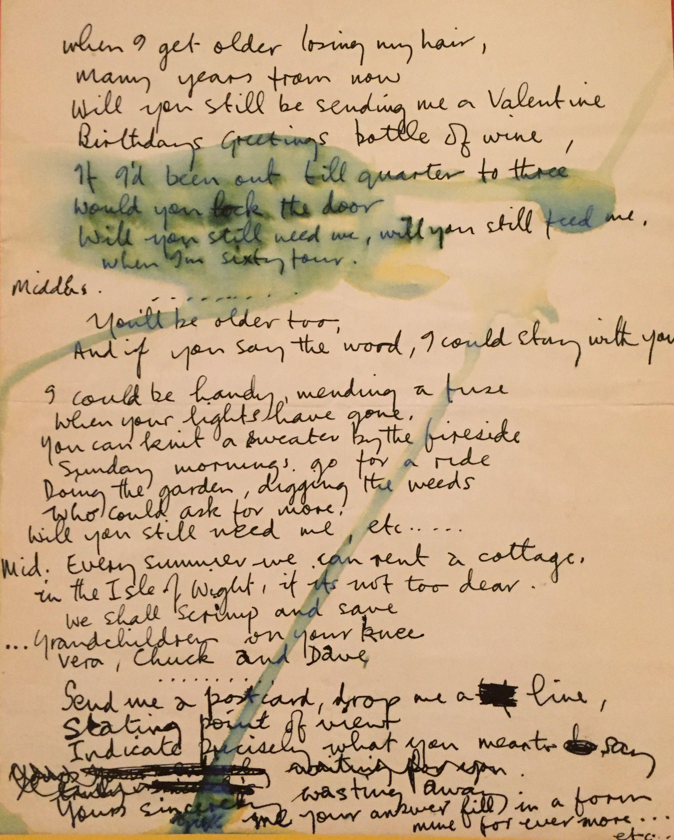 When I M Sixty Four Beatles Lyrics The Beatles Songs