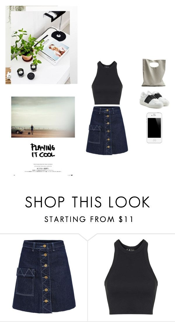 """""""Playing it Cool"""" by melaningaloree ❤ liked on Polyvore featuring Topshop, Valentino and Cheap Monday"""