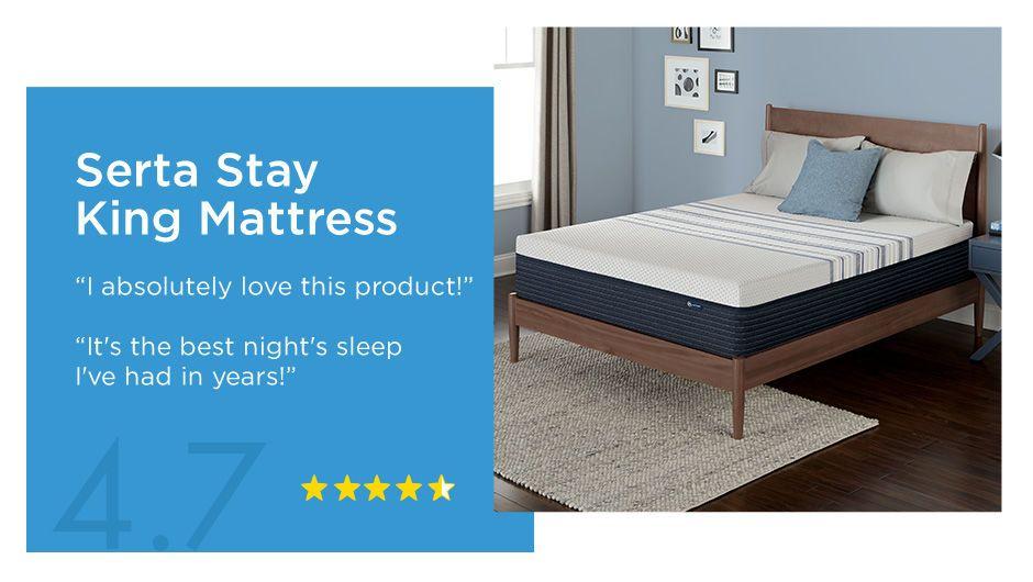Serta stay king mattress 47 star review mattress