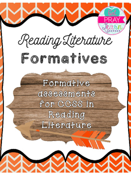 Use these 8 formatives to test your students' knowledge of specific standards. This product comes with a formative for standards RL.5.1-RL.5.9 and each one has a key.