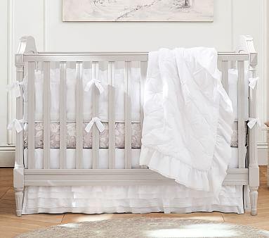 Blush Sa Ruffle Per Set With Sweet Dot Crib Ed Sheet