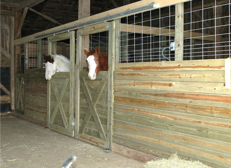 For riders on a budget these diy stall fronts using for Horse stall door plans