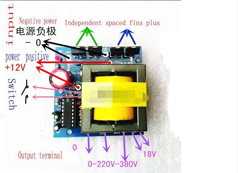 Dc Ac Converter 12v To 220v 380v 18v Ac 500w Inverter Board