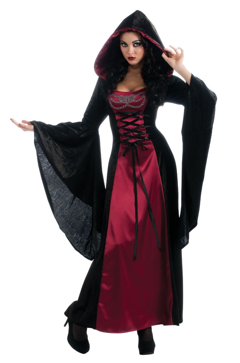 womens sexy medieval witch vampire halloween costume - Vampire Halloween Decorations