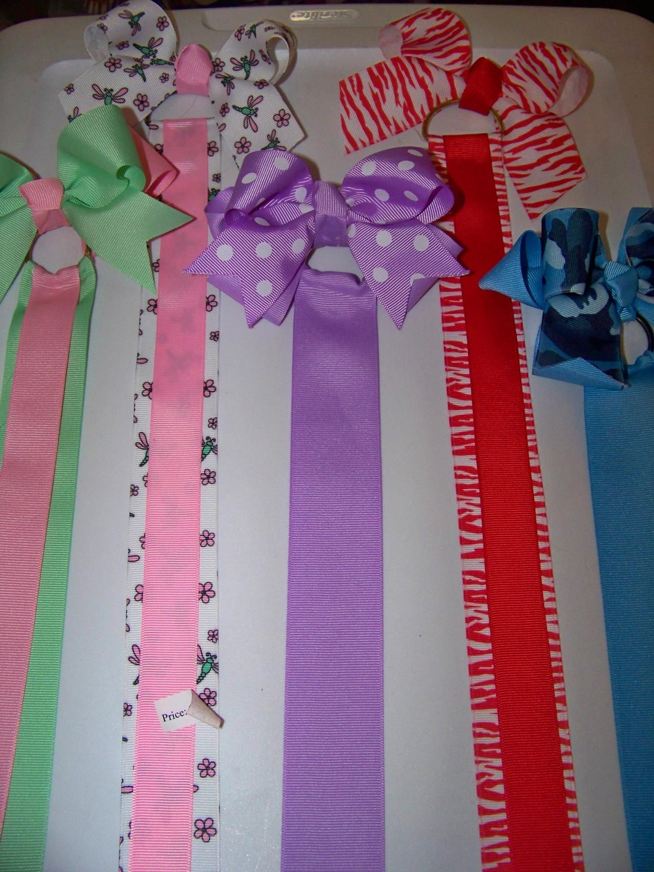 Simple Bow Holders Made With D Rings Homemade Bows Hair Bow