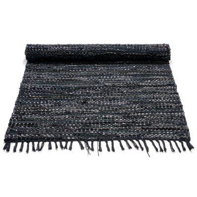 Leather matto, musta ryhmässä Huoneet / Eteinen / Matot @ RUM21 AB (116395r)