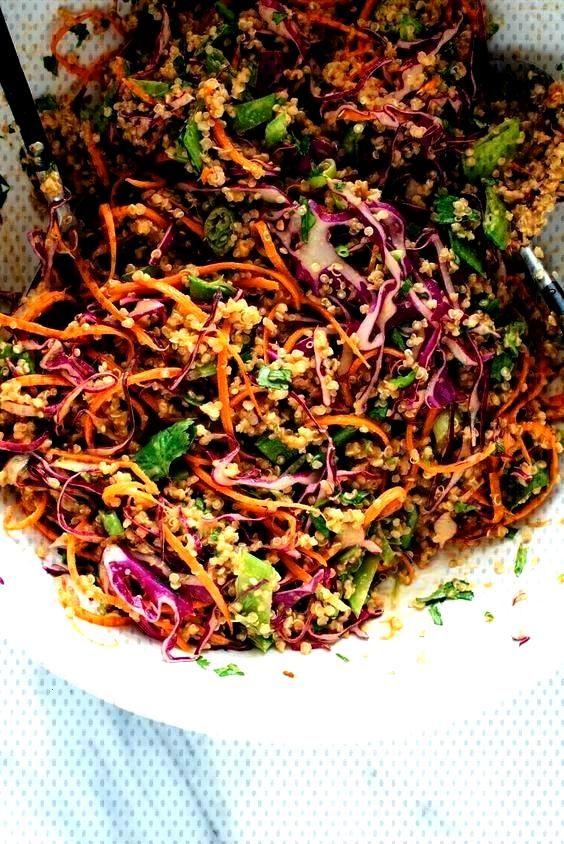 Thai Erdnuss amp Quinoa Salat - -Knuspriger Thai Erdnuss amp Quinoa Salat - - Cranberry Pecan Sw