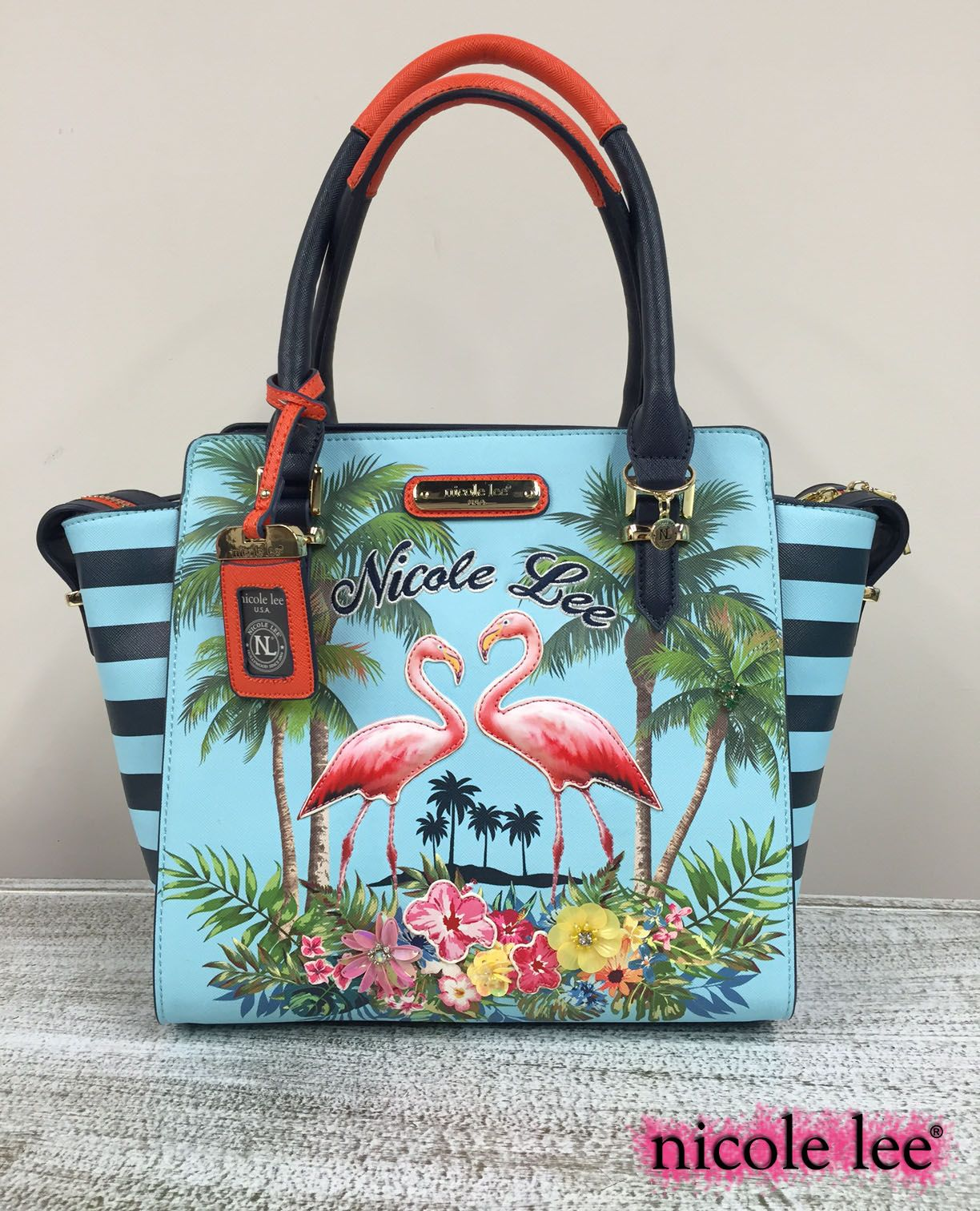 7f1acc1238f0 FLAMINGO COLLECTION by Nicole Lee  nicolelee  nicoleleeusa  NLlook   handbags  purse  fashion