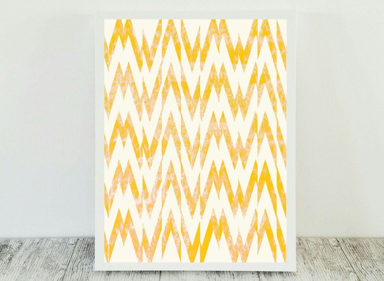 Yellow Print Art Print Geometric Abstract Art Yellow Printable Wall ...