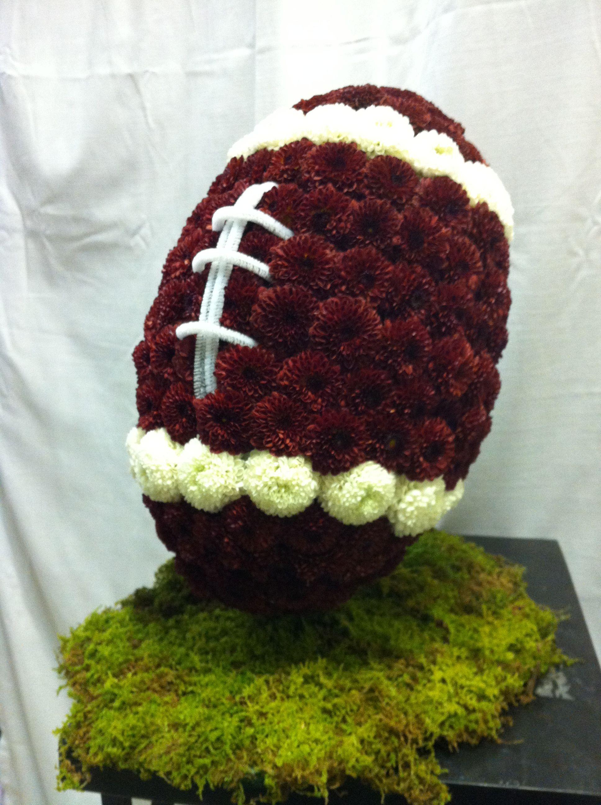 Football arrangement truman tailgate football flowers pinterest football arrangement izmirmasajfo