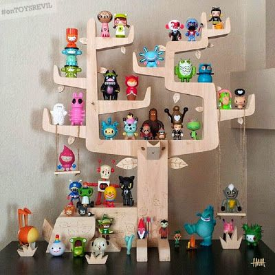 TOYSREVIL: Autumn Stag: Toy Shelf & Print by Gary Ham for #SDCC 2014