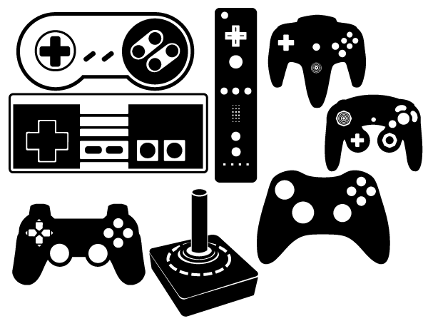Silhouette Playstation Controller Google Search Vector Game Silhouette Crafts Cricut Projects Vinyl