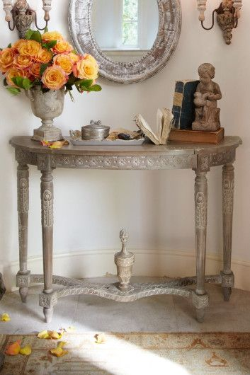 Antoinette Demilune   Antique Demilune Table, Demilune Entry Table,  Demilunes | Soft Surroundings