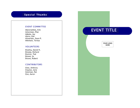 Event Program HalfFold  Pages  Templates  We Care Pcc
