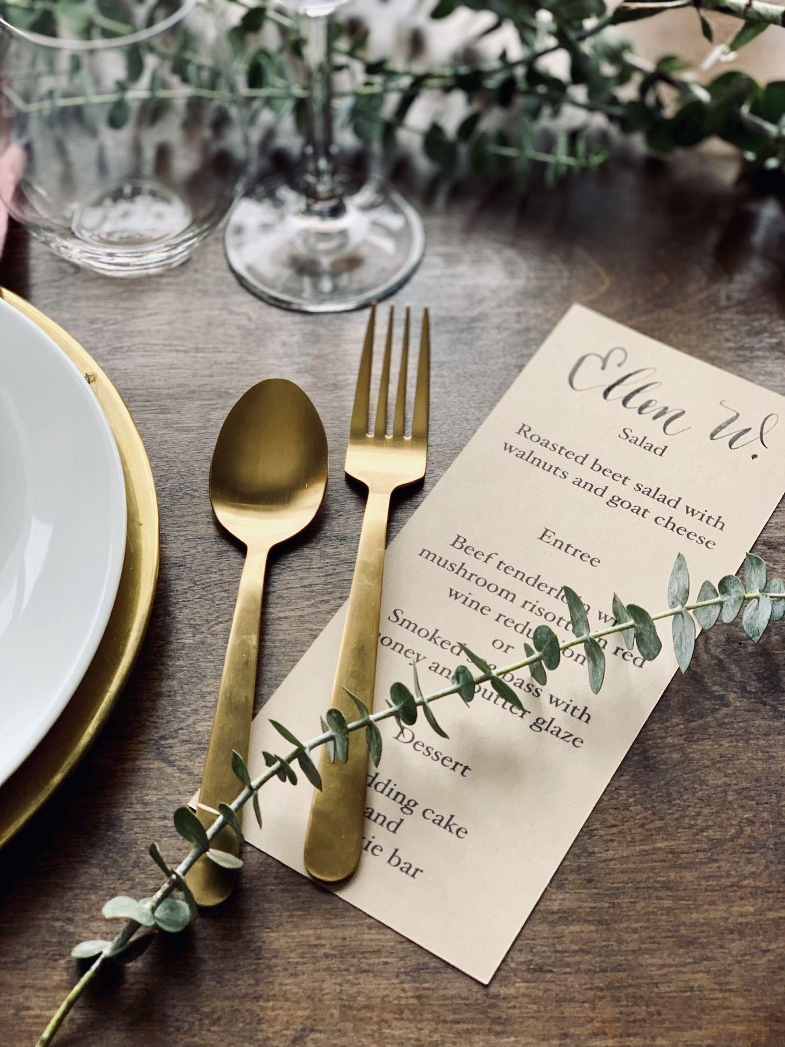 wedding menu cards with guest name  wedding menu cards