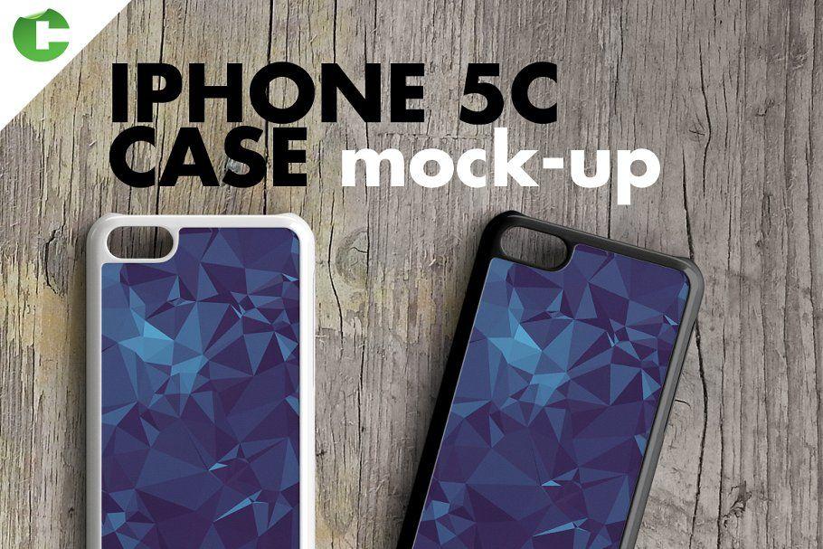 IPHONE 5c CASE MOCKUP 2d printing Product Mockups