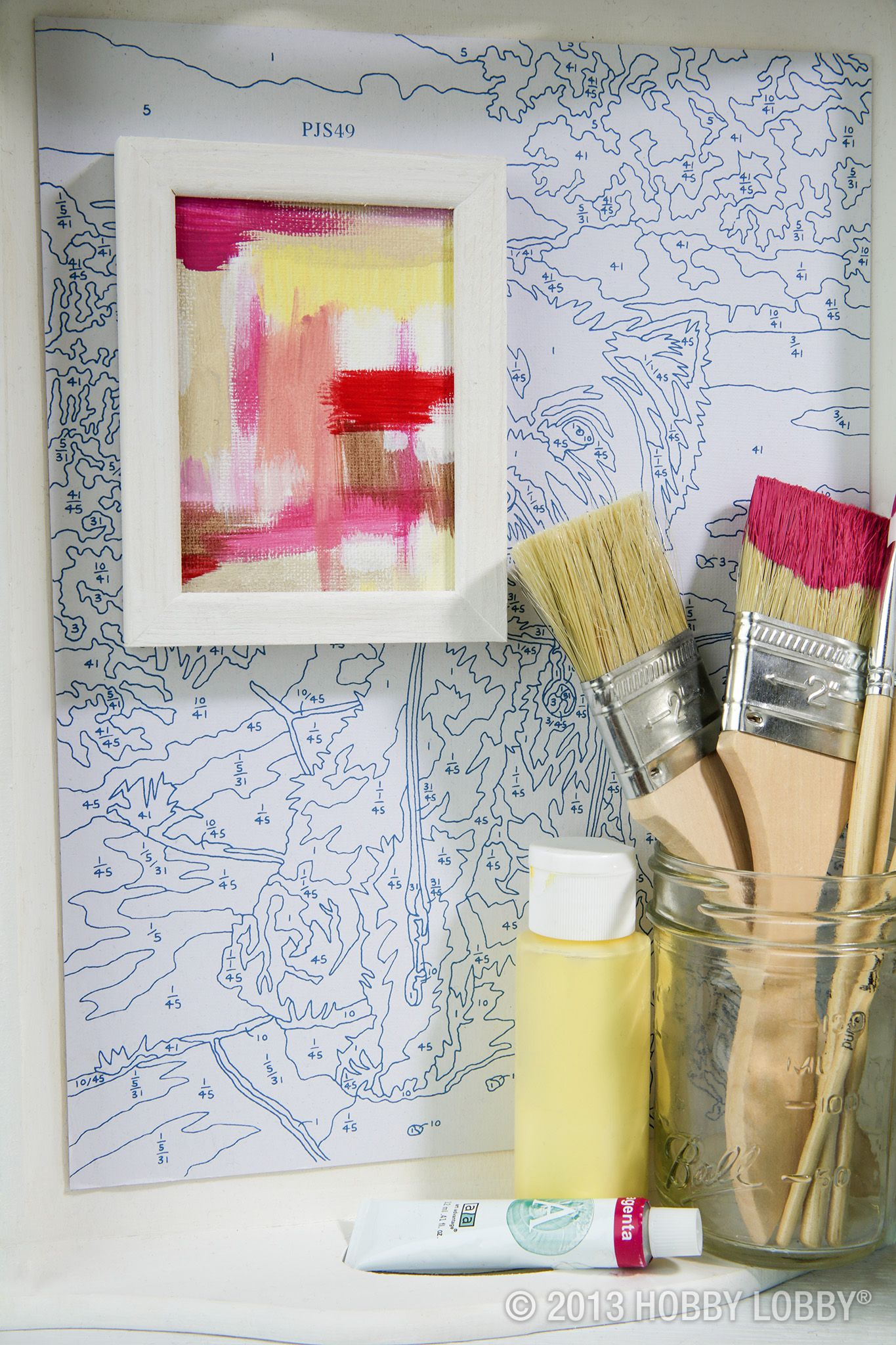 This Artsy Alcove Was Created With A Paint By Numbers Sheet, Mini