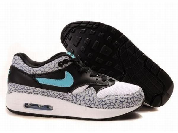 reputable site 28fe9 d6d9f ... authentic femme nike air max 1 atmos edition leopard pack safari bleu  blanc chaussures au prix