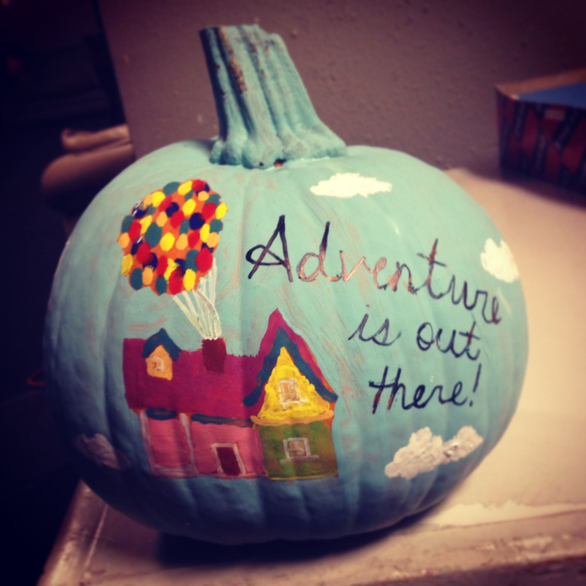 disney up pumpkin painted pumpkins pinterest disney
