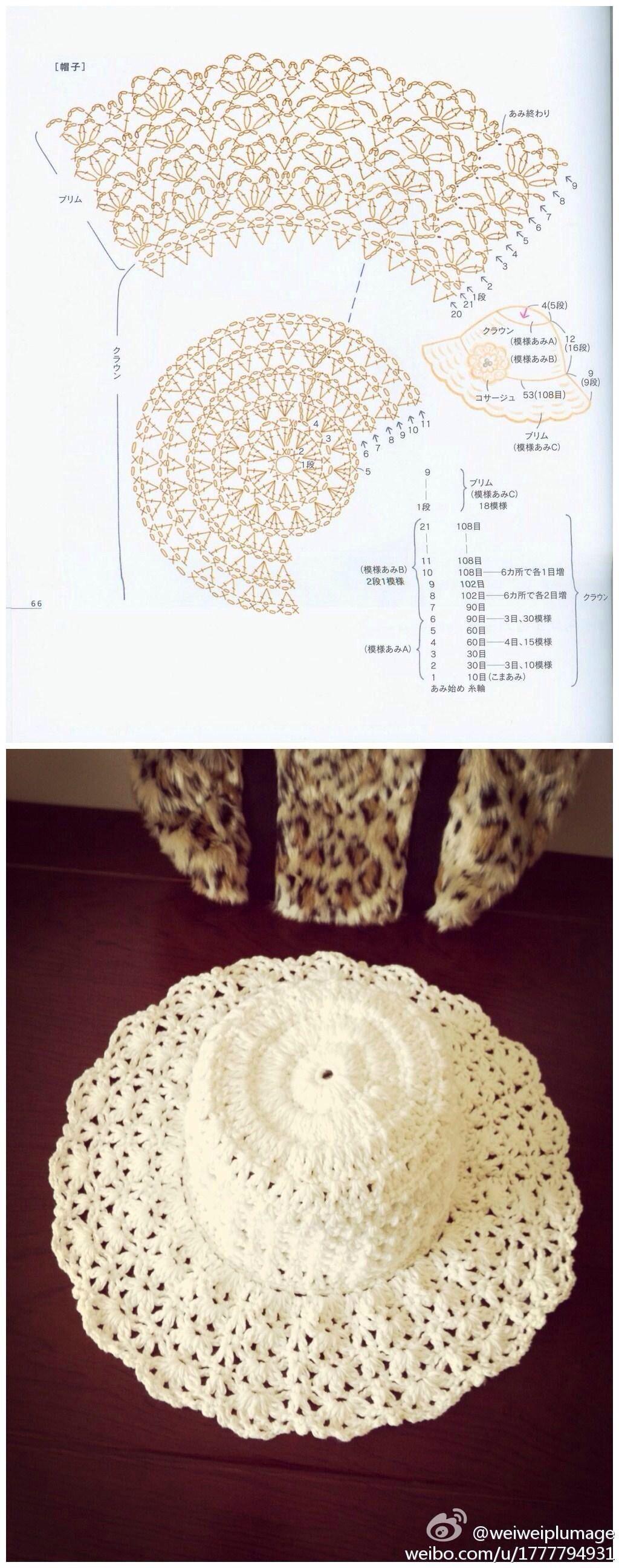 cappellino uncinetto | abriguito blanco | Pinterest | Gorros ...