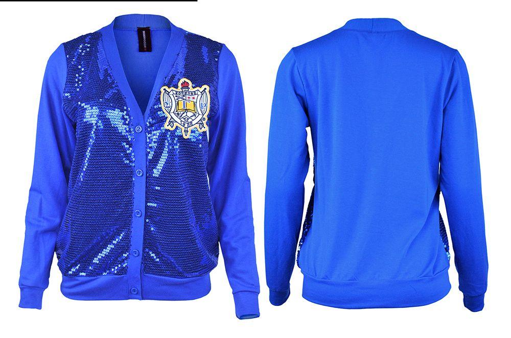 Sigma Gamma Rho Sorority Womens New Windbreaker Jacket Royal Blue