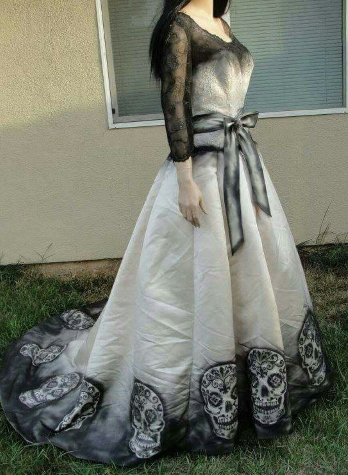 Pin By Shanah Backman On Gowns Skull Dress Sugar Skull Costume