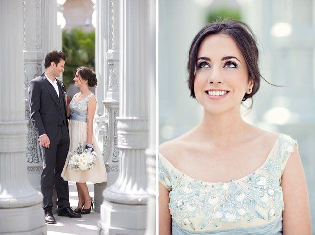A bit modern + a bit vintage for your wedding   Blue weddings, Blue ...