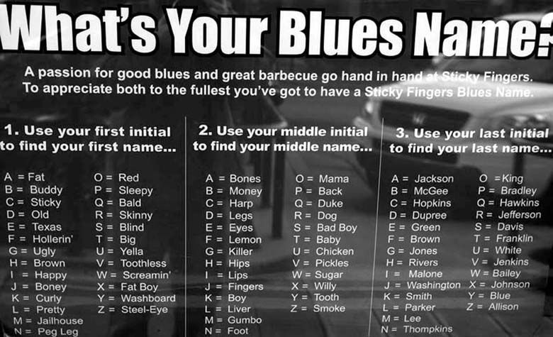 What S Your Blues Name Find Out Blue Names Blues Names