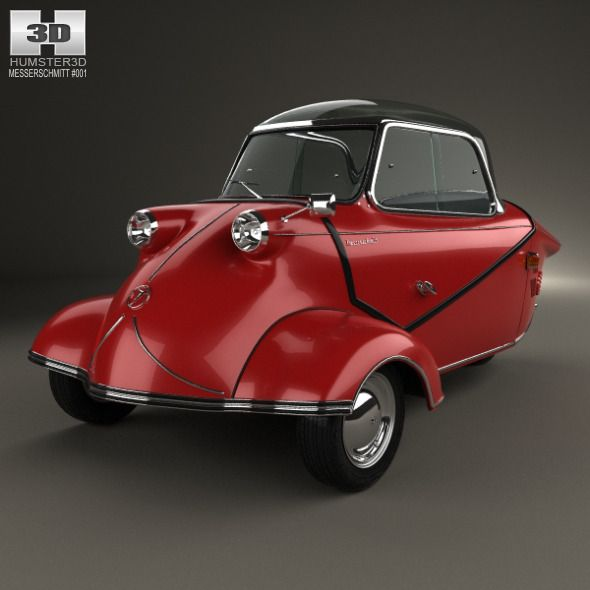 Messerschmitt KR200 1956. Car 3D model. #3D #3DModel #3DDesign #BubbleCar #ClassicCar #CompactCar #coupe #GermanCar #kabinenroller #karo #kr200 #messerschmitt #MesserschmittKr200 #microcar #SmallCar #ThreeWheeledCar #UnusualCars #VintageCar