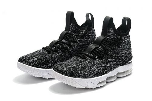 7070978c75d1 2018 Popular Nike LeBron 15 Oreo Black White-White 897648-002 ...