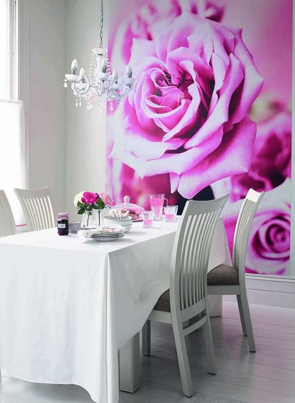 22 Attractive Dining Room Design Ideas with Modern Wall Murals ...