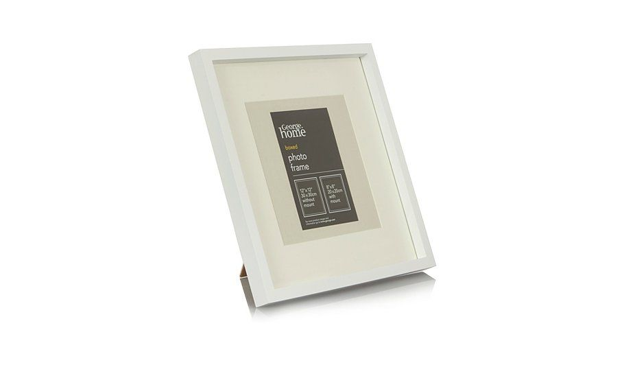 George Home White Boxed Photo Frame-8 x 8 Inch | favourite spaces ...