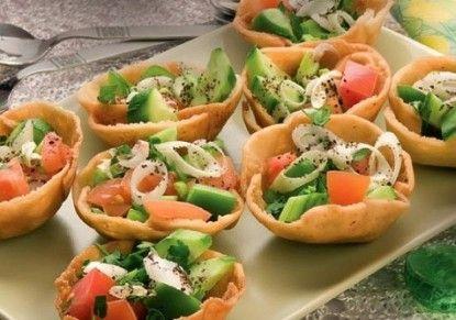 أكواب الفتوش الشهية من منال العالم مجلة الطبخ يم يمي Recipes Food Finger Foods
