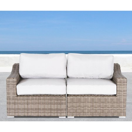 Living Source International Marina Wicker Patio Loveseat Walmart Com The Creator Of This Pin May Receive Compensation Patio Loveseat Outdoor Sofa Love Seat